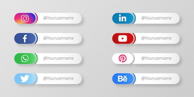 Moderne sociale media lager derde Gratis Vector