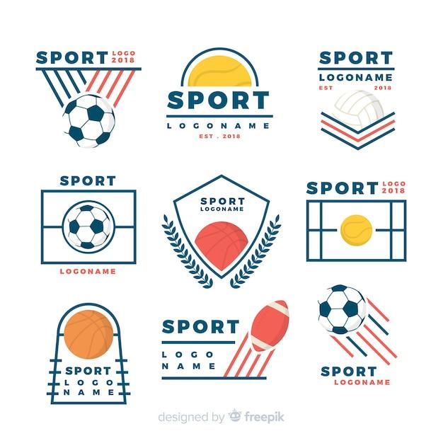 Moderne sport logo-collectie Gratis Vector