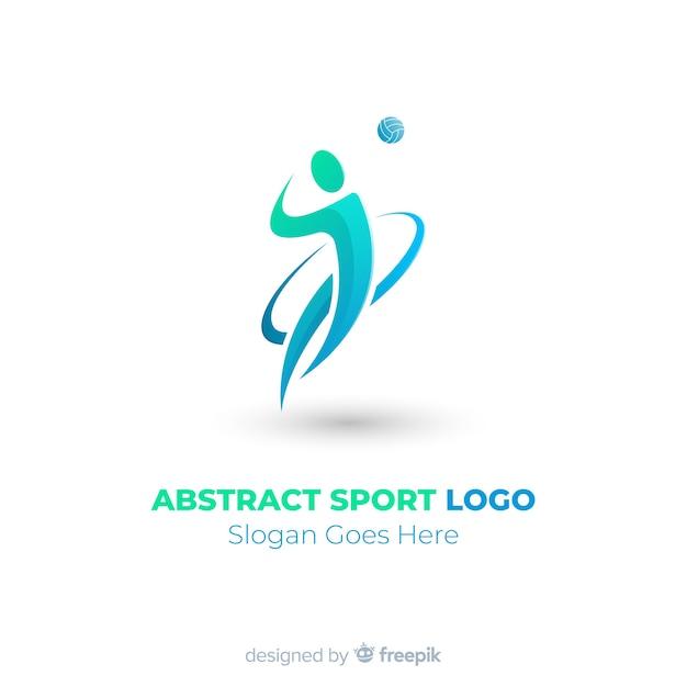 Moderne sport logo sjabloon met platte ontwerp Gratis Vector