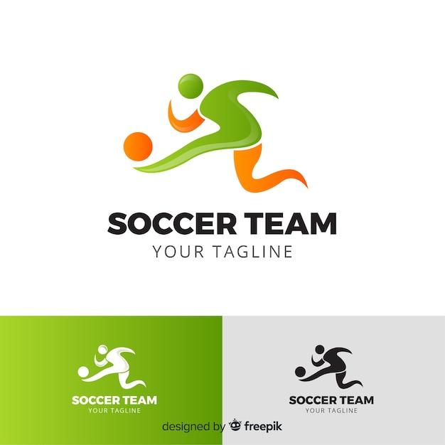 Moderne sportlogotype collectie Gratis Vector