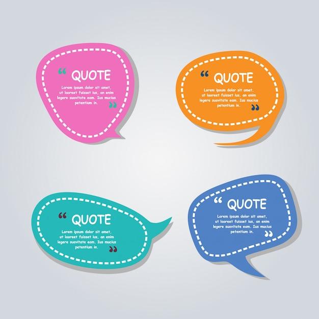 Moderne spraak bubbels ballonnen kleurrijke sjabloon Premium Vector