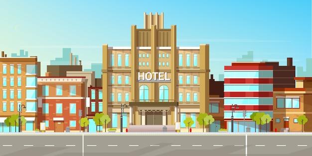 Moderne stadsgebouwen Gratis Vector