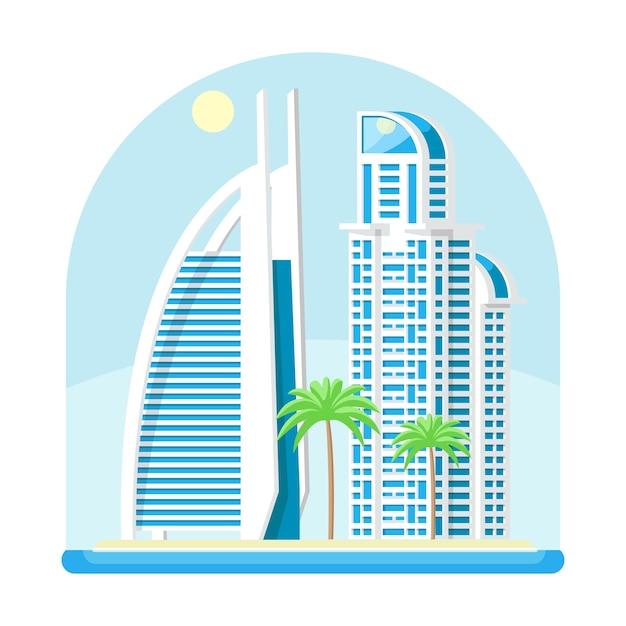 Moderne stedelijke stad zee kust Premium Vector