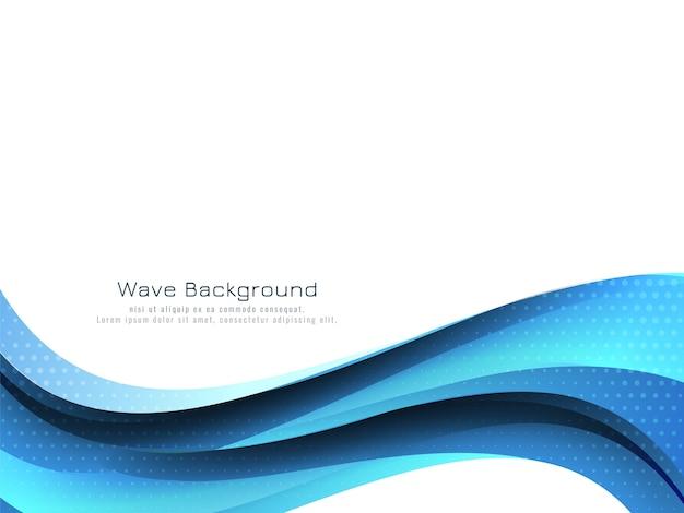 Moderne stromende blauwe golf ontwerp achtergrond Gratis Vector