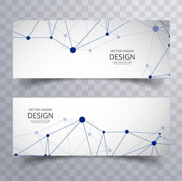 Moderne technologie banners Gratis Vector