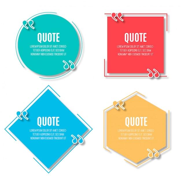 Moderne tekstballonnen voor citaten Gratis Vector