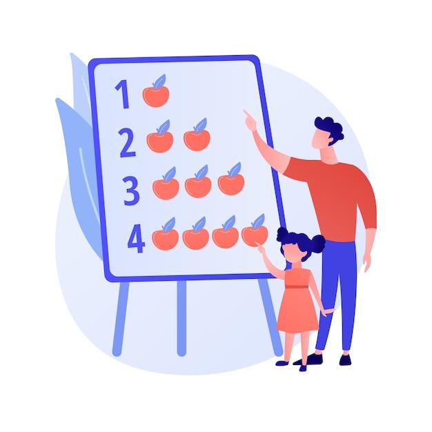 Moderne vaders abstract concept vectorillustratie. thuis blijven vader, huis super goede vader, betrokken bij kinderen leven, samen met kinderen, actief gezin, tijd besteden aan het spelen van abstracte metafoor. Gratis Vector