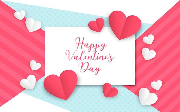 Moderne valentijnsdag achtergrond Gratis Vector