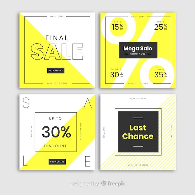 Moderne verkoopbanners voor sociale media Gratis Vector