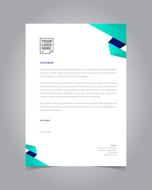 Moderne vlakke stijl briefpapier sjabloonontwerp Premium Vector