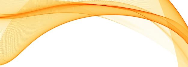 Moderne vloeiende oranje golf banner achtergrond Gratis Vector