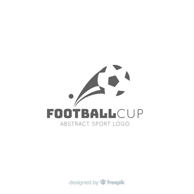 Moderne voetbal team logo sjabloon Gratis Vector