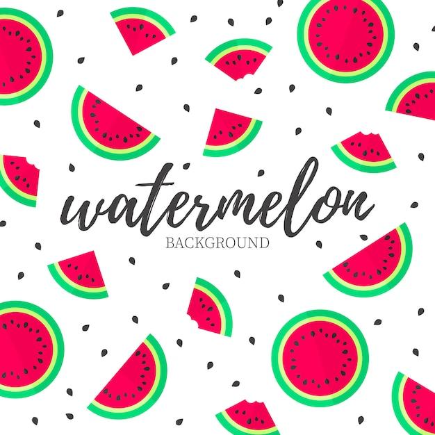 Moderne Watermeloen Achtergrond Vector Gratis Download