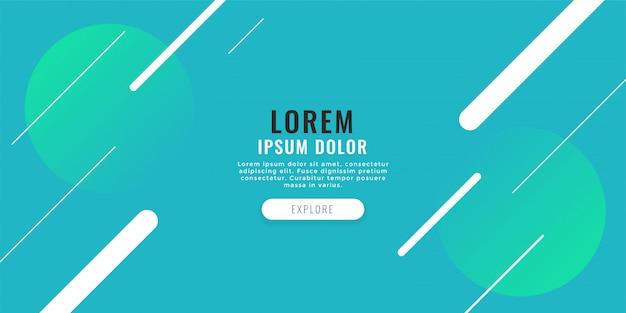 Moderne webbanner met diagonale lijnenachtergrond Gratis Vector