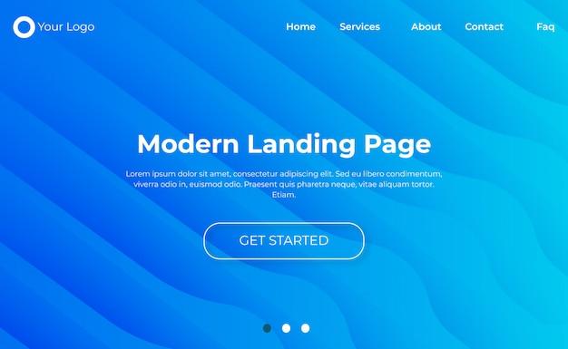 Moderne website bestemmingspagina sjabloon Premium Vector