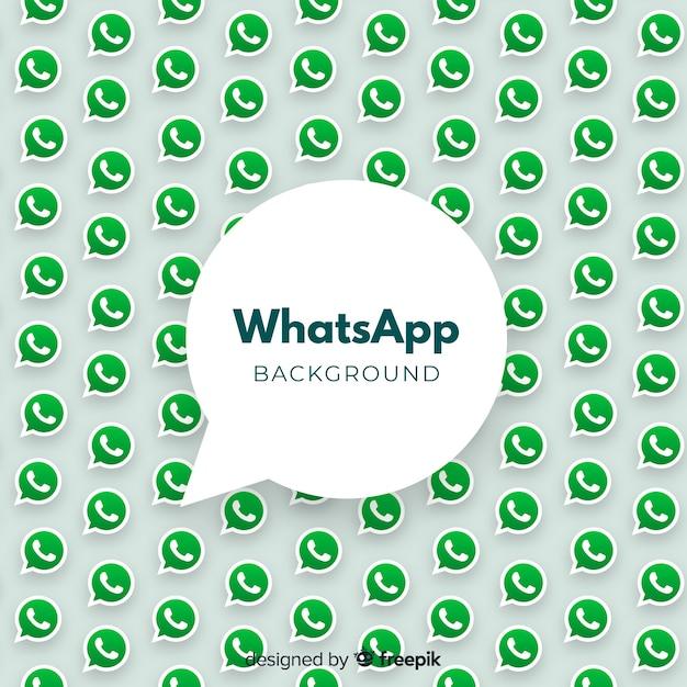Moderne whatsapp-achtergrond Gratis Vector