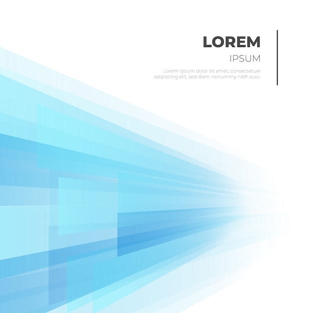 Moderne zakelijke achtergrond met blauwe vormen Gratis Vector