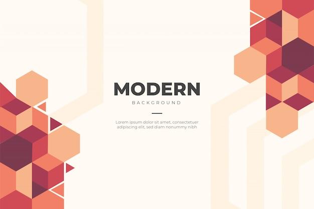 Moderne zakelijke achtergrond met geometrische vormen Gratis Vector