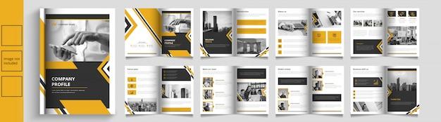 Moderne zakelijke catalogus of boekje sjabloon Premium Vector