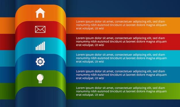 Moderne zaken infographic sjabloon. Premium Vector