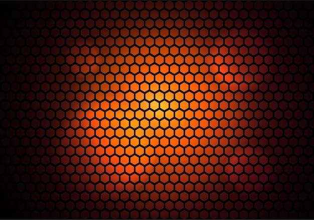 Moderne zeshoekige patroontechnologie kleurrijk Gratis Vector