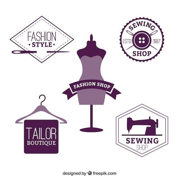 Modewinkel badges Gratis Vector