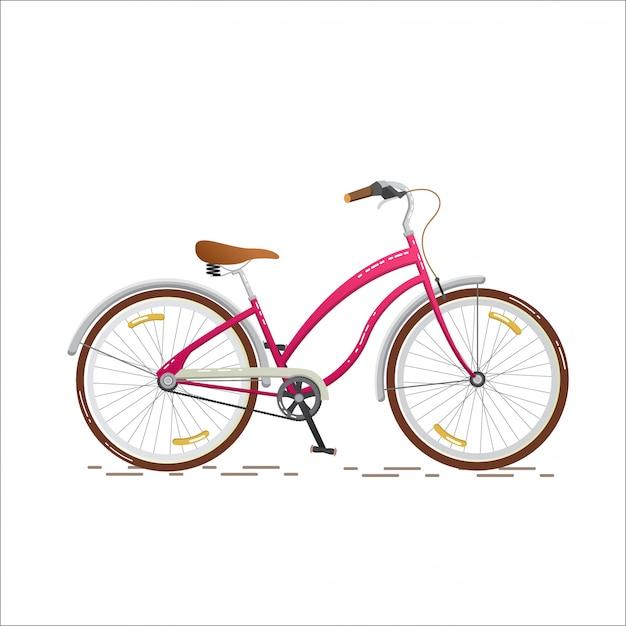 Modieus roze voor meisjes Premium Vector