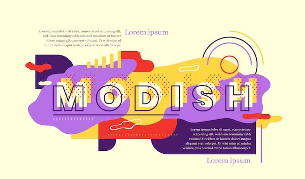 Modieus webbannerontwerp in abstracte stijl. Premium Vector
