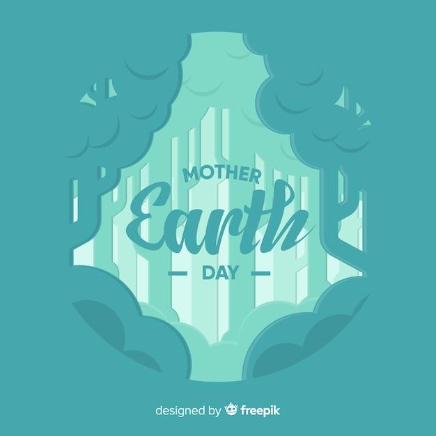 Moeder aarde dag Gratis Vector