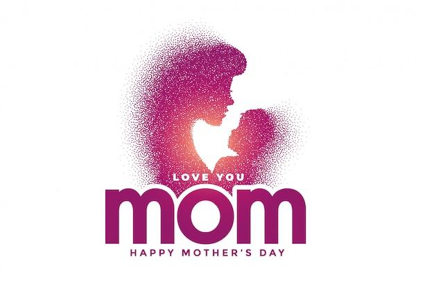 Moeder en zoon liefde relatie voor moederdag Gratis Vector