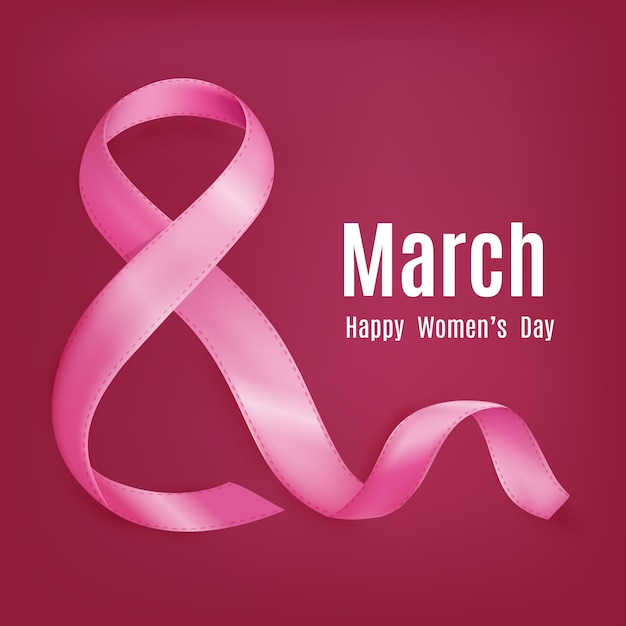 Moederdag van 8 maart groetkaart Gratis Vector