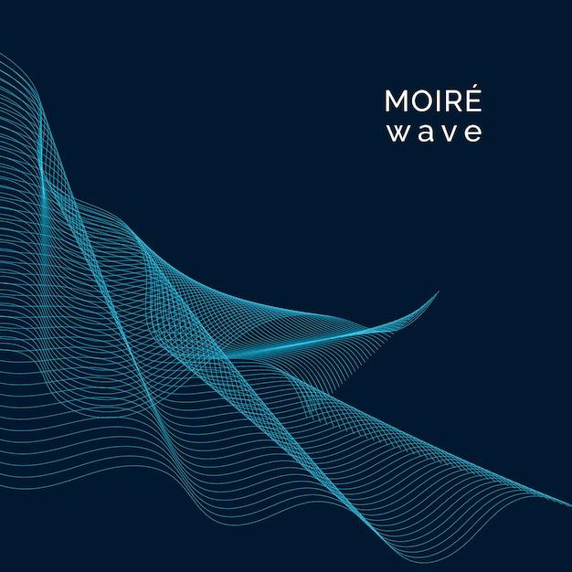 Moiré-patroonachtergrond Gratis Vector