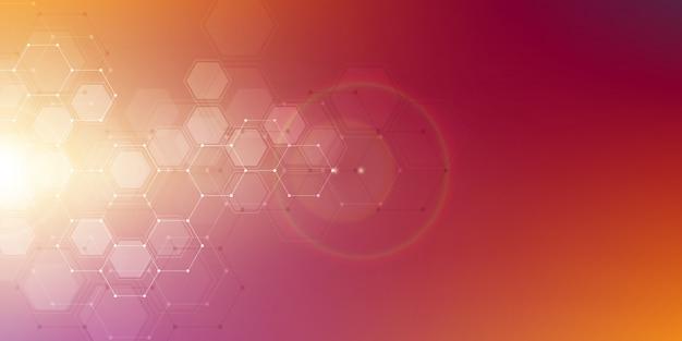 Moleculaire structuur achtergrond Premium Vector