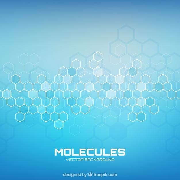 Molecules achtergrond met geometrische stijl Gratis Vector