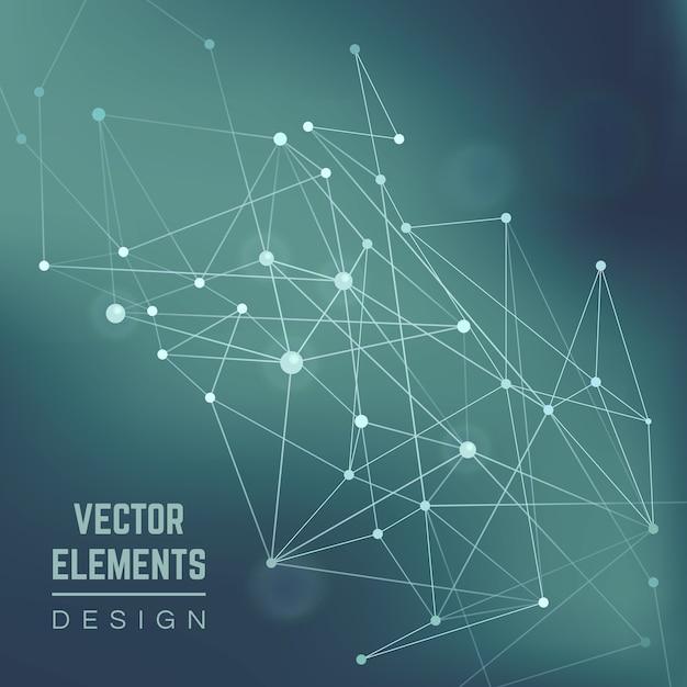 Molecuul structuur. verbinding chemie, wetenschap en onderzoek, technologie illustratie. abstracte vector achtergrond Gratis Vector