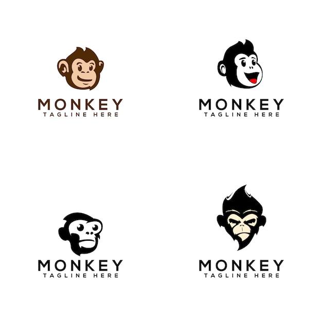 Monkey logo Premium Vector