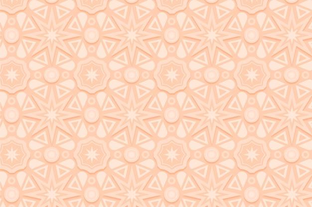 Monochromatisch beige patroon met vormen Premium Vector