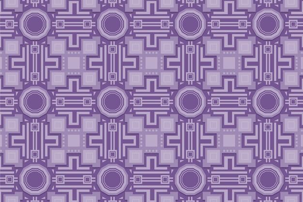 Monochromatisch paars patroon met vormen Gratis Vector