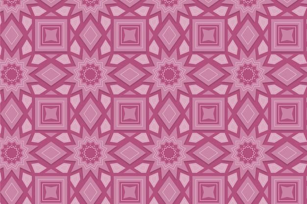 Monochromatisch roze patroon met vormen Gratis Vector