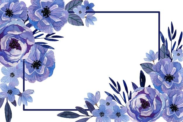 Monochromatische aquarel bloemen achtergrond Gratis Vector