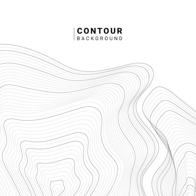 Monochrome abstracte contourlijn illustratie Gratis Vector