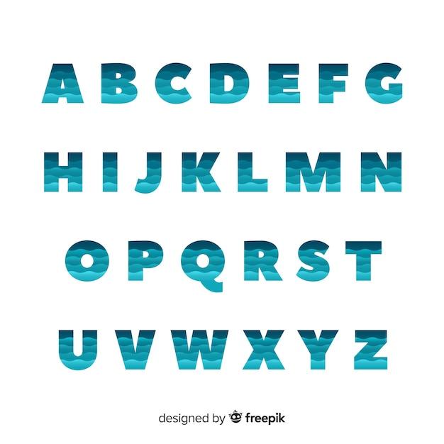 Monochrome gradiënt typografie Gratis Vector