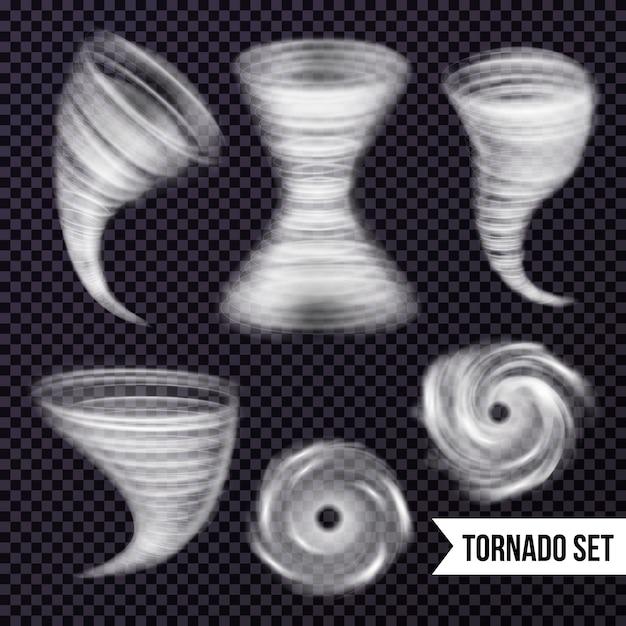 Monochrome storm realistische collectie Gratis Vector