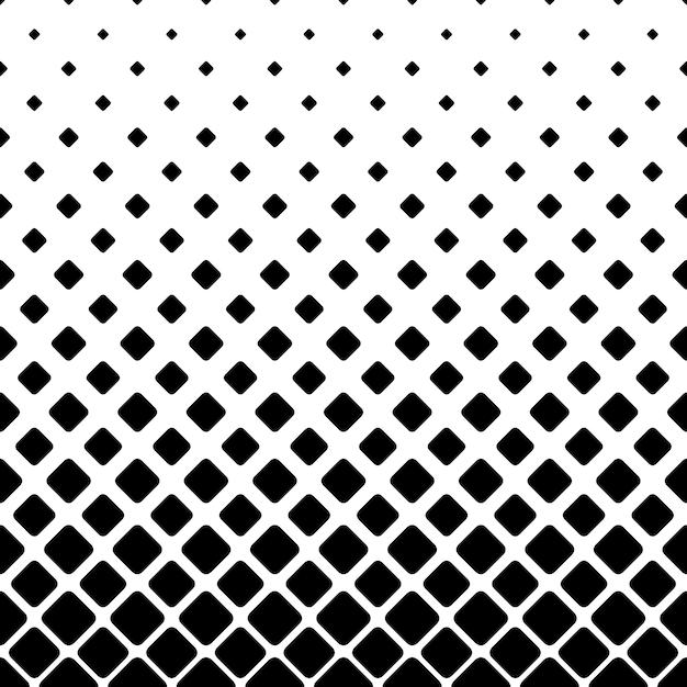 Monochrome vierkante patroon achtergrond - geometrische vector illustratie Gratis Vector