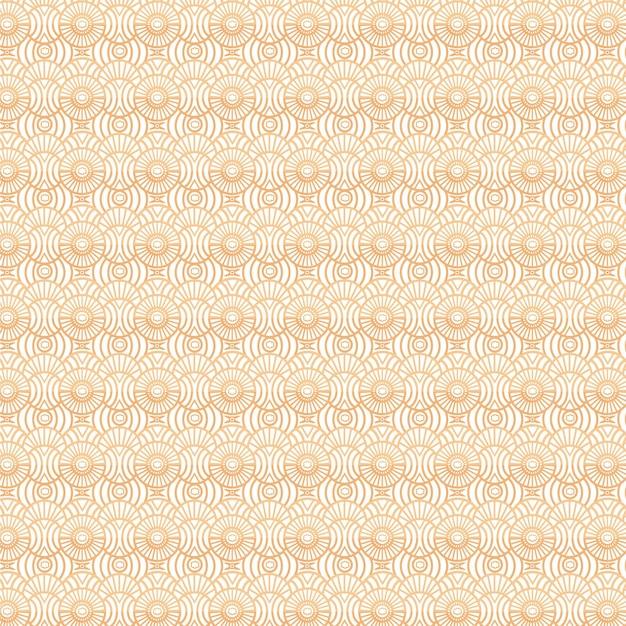Monochroom geel art deco naadloos patroon Gratis Vector