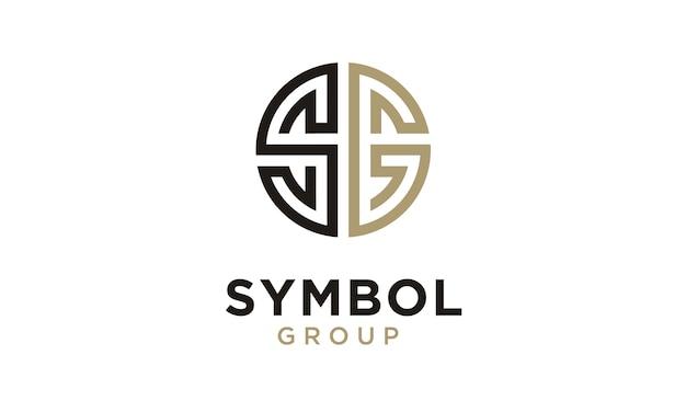Monogram / initiële sg-logo ontwerpinspiratie Premium Vector