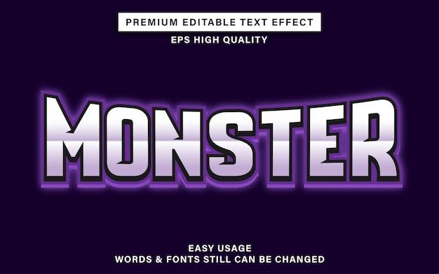 Monster esports teksteffect Premium Vector
