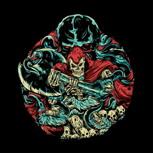 Monster illustratie Premium Vector