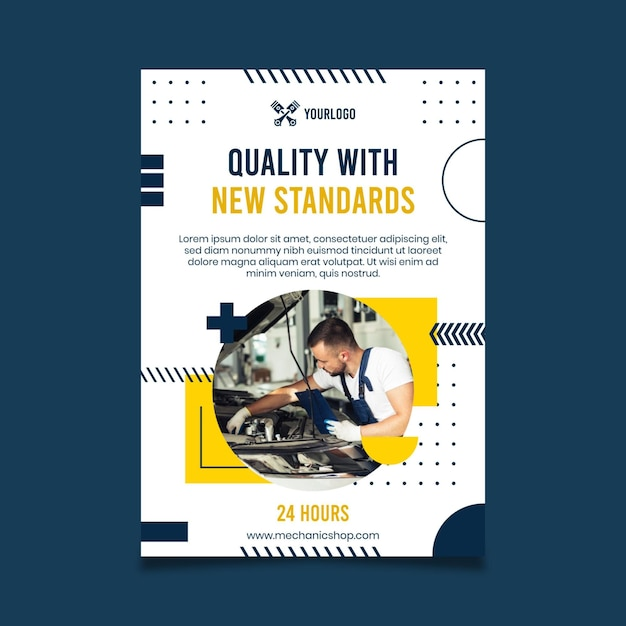 Monteur poster sjabloon Premium Vector