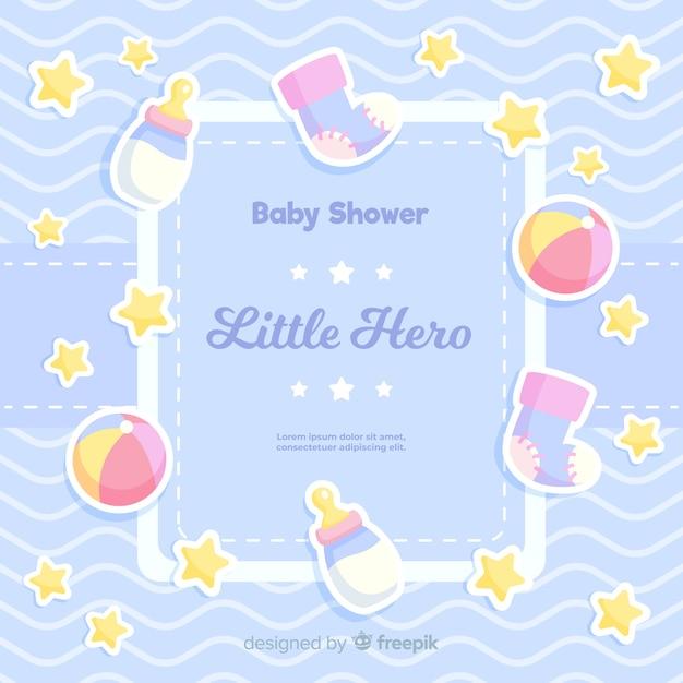 Mooi baby shower ontwerp Gratis Vector